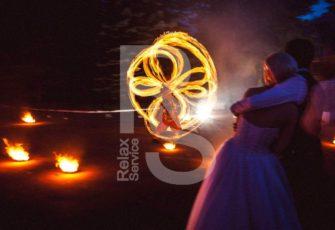 Пиротехническое огненное фаер шоу с 4 мя артистами заказать на мероприятие в МСК цена, заказ fire show на праздник в СПб стоимость за 4 человек