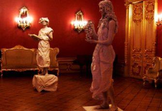 2 живые скульптуры - готовые образы
