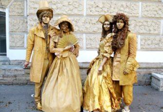 Живая скульптура - 1 готовы образ заказать на мероприятие в МСК цена, живая статуя с готовым образом заказ в СПб стоимость