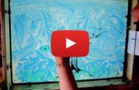 Видео с рисованием на воде