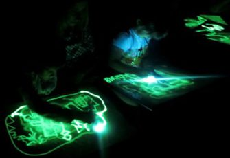 Интерактив с шоу световых картин - рисование светом заказать в СПб и МСК цена