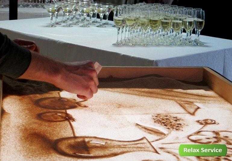 Песочная анимация на мероприятиях