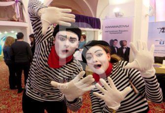 Заказать мимов и клоунов с подготовкой эксклюзивных номеров и шоу на мероприятие в МСК цена, пригласить артиста мима или клоуна с индивидуальной программой в СПб стоимость