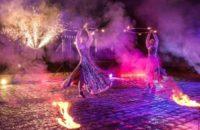Выступление с огнем и пиротехникой, 4 артиста