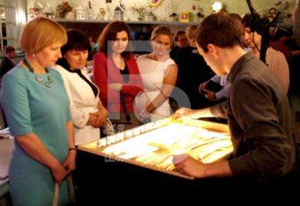 Интерактивное зона с мастер классом по песочному шоу заказать в СПб стоимость