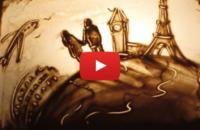 Видео с песочной анимацией