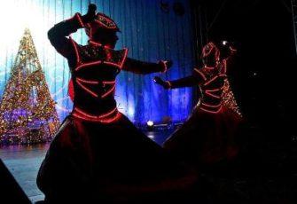 Неоновое световое шоу фриков выступление дуэтом заказать на мероприятие в МСК и СПб цена