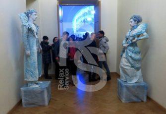 Живые скульптуры - создание 2-х тематических образов по ТЗ заказать на мероприятие в МСК цена, две живые статуи с индивидуальным образом заказ в СПб стоимость