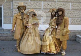 Живые скульптуры - создание тематических образов по ТЗ заказать на мероприятие в МСК цена, живые статуи с индивидуальным образом заказ в СПб стоимость