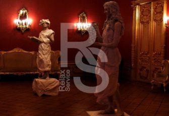 2 живые скульптуры с готовыми образами заказать на мероприятие в МСК цена, заказ живых статуй с 2 готовыми образами в СПб стоимость