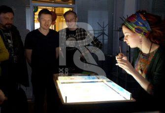 Эбру интерактив заказать на мероприятие в МСК цена, мастер-класс по рисованию на воде заказ на праздник в СПб стоимость