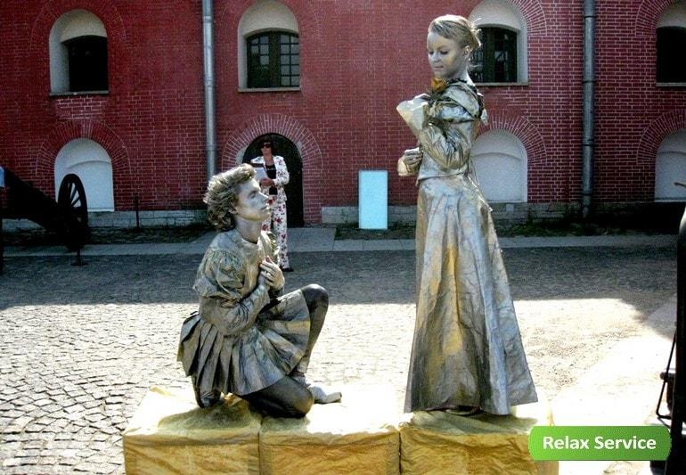 Живые скульптуры на мероприятие