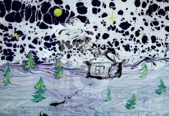 Рисунки на воде под заказ цена, заказать отрисовку картин на воде