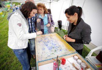 Рисование на воде Эбру заказать в СПб и МСК цена интерактив мастер класс
