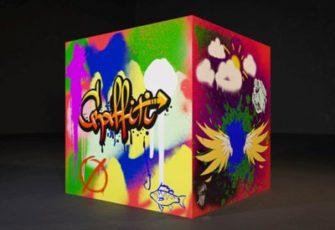 Куб для граффити интерактива и шоу 2x2x2 м. заказать на мероприятиев МСК цена, мастер-класс по граффити на кубе из пенопласта заказа в СПб стоимость