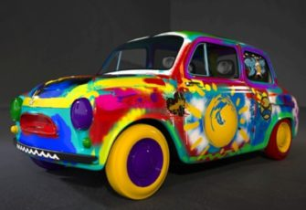 Граффити шоу и интерактив с автомобилем заказать на мероприятие в МСК цена, мастер-класс по граффити на авто в СПб стоимость